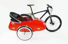 Das stylische #ScandinavienSideCar für Fahrrad oder als Schlitten #Fahrradfahren #Kleinkindtransport #Schlittenfahren