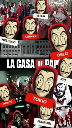 LA CASA DE PAPEL  Made by: me ❤️❤️ Shows On Netflix, Netflix Series, Best Series, Tv Series, Diy Toilet Paper Holder, Go Wallpaper, Kids On The Block, Movie Wallpapers, Backgrounds Free