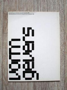 Wim Crouwel - Vormgevers Stedelijk catalogue 1968 by insect54, via Flickr