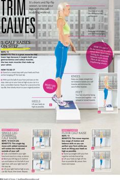 Calf muscle exercise