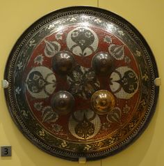 File:Dhal (shield), India, Lucknow, Awadh, Mughal period, early 19th century, steel, bronze - Royal Ontario Museum - DSC04547.JPG