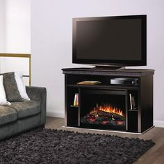 Dimplex Corry Black Electric Fireplace Media Console