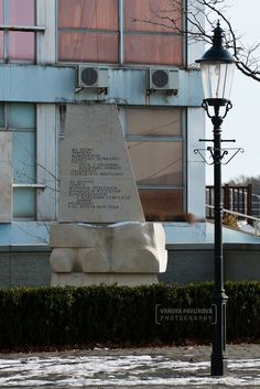 Bratislava - Monument dedicated to the seamen of the Sovietská dunajská flotila to relieve Bratislava on April 4, 1945 next to the building of the passenger port. https://www.google.com/maps/d/edit?mid=1peiLhfLGVISgg9Ia7zYOqWecX9k&ll=48.13997942564879%2C17.109180497007514&z=18