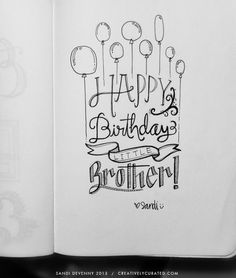 Creatively Curated: SANDI DOODLES : HAND LETTERED HAPPY BIRTHDAY
