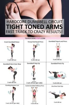 #armfat #dumbbellforwomen #flabbyarms #womensworkouts #dumbbellcircuit Tone and tighten your arms with this dumbbell circuit. Youll be full of motivation to get that summer body. Wondering how to get rid of those flabby arms? Do this 30 day strength tra...