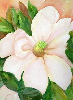 Magnolia Watercolor from Mississippi Original by SharonFosterArt, $50.00