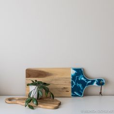 Resin Edged Acacia Serving / Antipasto Board - Muted Teal, Cheese Platter, Mothers Day, Wedding Gift, Unique Gift, Chopping Board, OOAK