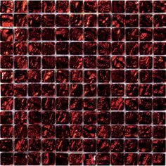 Emser Tile Vista Glass Mosaic Tile in Red