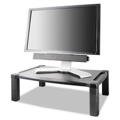 Kantek Single Level Extra Wide Adjustable Monitor/Laptop Stand (MS500) Kantek http://www.amazon.com/dp/B008HPSZPC/ref=cm_sw_r_pi_dp_Oeb8tb0YEKECY