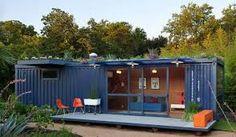 casa de containers em terreno declive ou aclive ecológico feito de resíduos de obras - Pesquisa Google