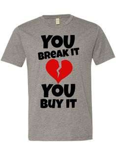You break it , you buy it – uDesign Demo / T-shirt Design Software