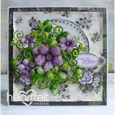 Heartfelt Creations - Violet Blushing Roses With Love Project