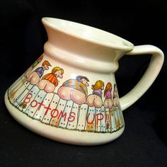 Vintage Bottoms Up Butt Moon Travel No-Spill Coffee Mug Hirschi Ass Gag Gift #Papel