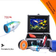 """15Meter Deepth Cable of  Super Mini 700TVL Underwater Camera With 8pcs White LED & 3.5"""" Digital LCD Monitor & Floating Fish Ball #Affiliate"""