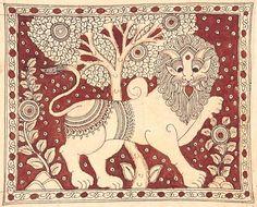 Kalamkari Lion