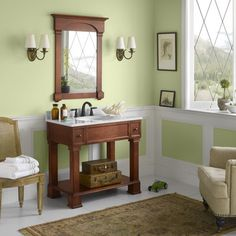 "Decolav 24 Bathroom Vanity decolav 24"" single wall mounted bathroom vanity set with mirror"
