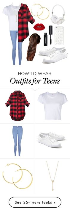 """""""Untitled #565"""" by aleksandra-203 on Polyvore featuring New Look, RE/DONE, Lacoste, Frends, MICHAEL Michael Kors, Bobbi Brown Cosmetics, Lime Crime, EF Collection and ASOS"""