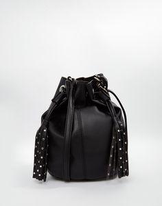 Image 1 ofASOS Duffle Cross Body Bag With Stud Tassels