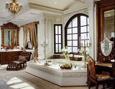Luxurious Bathroom** | An $85 million Beverly Hill mansion known as La Belvedere has lounge ...