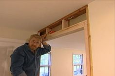Learn how widen a doorway; includes details on inspection holes, removing wall coverings and installing new framing.
