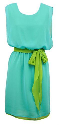 Beautiful color block.  Turq & green.