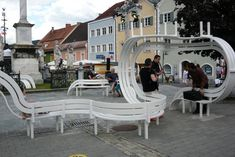 Long Benches, Modified Benches by Jeppe Hein, 2005-2013 | Playscapes