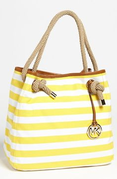 sunny yellow stripes & rope