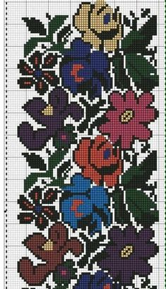 Beaded Embroidery, Cross Stitch Embroidery, Hand Embroidery, Cross Stitch Patterns, Embroidery Designs, Form Crochet, Tapestry Crochet, Brick Stitch, Crochet Flowers