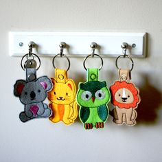 In The Hoop Animal Key Fobs Pack of 12. Hurry, Intro Price $3.99   Embroidery Super Deal