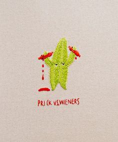 Epic Battle 4: Prick vs Wieners - Embroidered artworks by maricormaricar