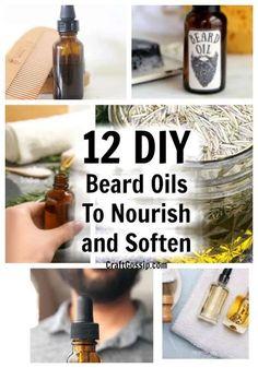 Mens Beard Oil, Diy Beard Oil, Beard Oil And Balm, Beard Balm, Homemade Beard Oil, Homemade Body Care, Homemade Gifts, Beard Butter, Natural Beard Oil