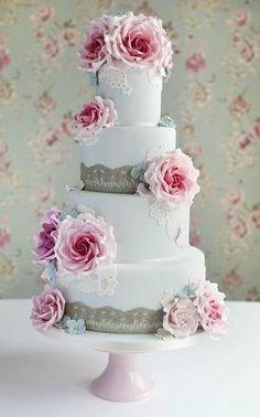 Beautiful cake from Cotton and Crumbs. Photograph by Nicola at Daffodil Waves Beautiful Wedding Cakes, Gorgeous Cakes, Pretty Cakes, Amazing Cakes, Beautiful Flowers, Cotton And Crumbs, Just Cakes, Wedding Cake Inspiration, Wedding Ideas