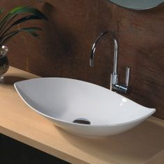 Ceramica LVO 140 Above Counter Bathroom Sink // Ain't it beautiful? On the Foundry. Sale ends in less than a week. $490