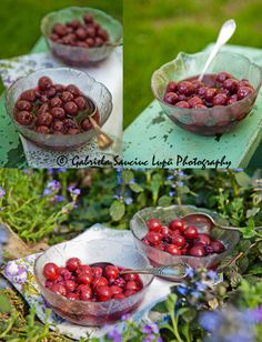 Sour cherries and wild berries compote