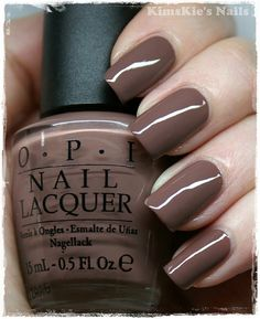 "OPI ""Over The Taupe""  I love this color.  I like shorter nails though ... But this color is perfection...  Allison"
