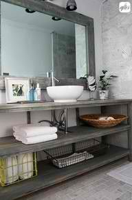 Lovely grey bathroom