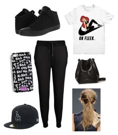"""""""gym clothes"""" by diva-7 ❤ liked on Polyvore featuring NIKE, T By Alexander Wang, Converse and Rachael Ruddick"""