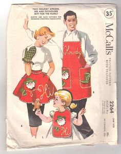 sewing patterns christmas Vintage