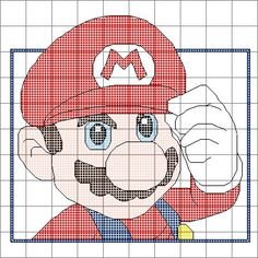 Super Mario Cross Stitch Pattern by SynergyStitches on Etsy, £2.95