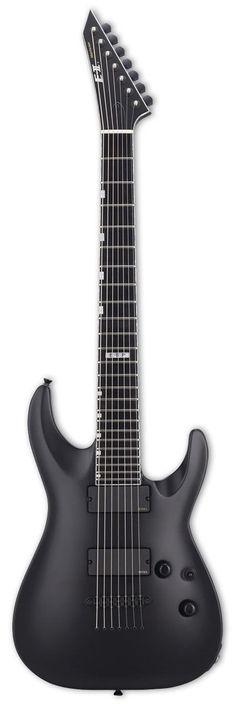 ESP E-II Horizon NT7 B 7-String Baritone Electric Guitar | Black Satin Finish