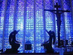 Dom Bosco Cathedral, Brasilia, Brazil by hanneorla, via Flickr
