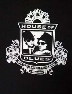 House of Blues Brothers-Jake Elwood Help Ever Hurt Never Tee Shirt T XL Black