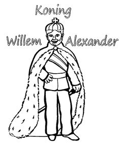 koning wilem alexander kleurplaat Disney Coloring Pages, Printable Coloring Pages, 27 April, Royal Craft, King Birthday, National Holidays, Kings Day, Colouring, Holland