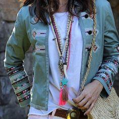 S U M M E R  V I B E  @mytenida  #embroidery #details #embellished #Spanish #blogger #fashionista #summervibes #summer #hippie #turquoise #tassels #beads #necklace #boheme #bohemian #spain #fashion #authentic #vibe
