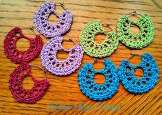 Simple Summertime #Crochet Earrings ~ Free Pattern from BeatriceRyanDesigns.com