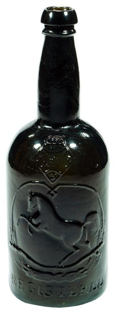 Antique bottle Tooths Export Stout Black Horse Ale White Horse of Kent