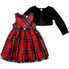 George Baby Toddler Girl Taffeta Holiday Dress with Shrug