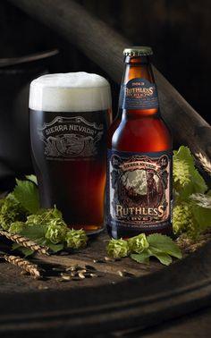 Ruthless Rye Beer label design by Melbourne illustrator Ken Taylor