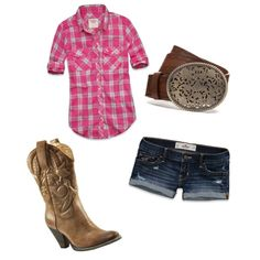 cute summer cowgirl outfit love the pink, Cowgirl outfit, Maybe for the toby keith concert.