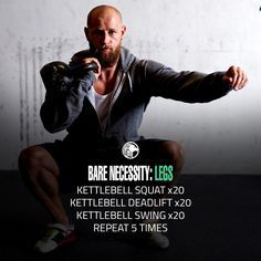 If you own a kettlebell, there is absolutely no reason why you can't workout. The Bare Necessity Leg Workout will work your entire lower body.